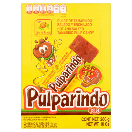 (3 Pack) Pulparindo Hot and Salted Tamarind Pulp Candy, 10 Oz](Candy Coal)