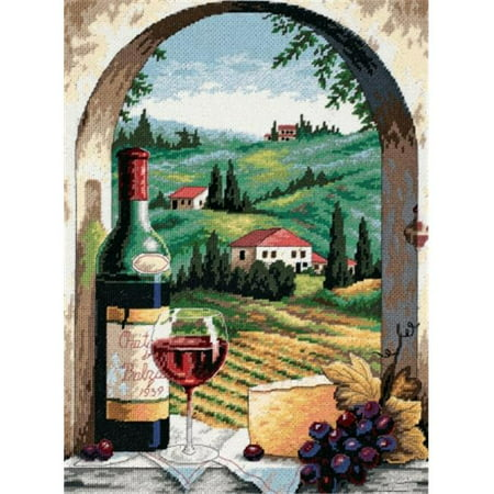 Tuscan View Needlepoint Kit-12X16 Stitched In Floss