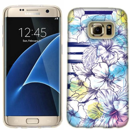- Mundaze Stripes And Flowers Phone Case Cover for Samsung Galaxy S7 edge