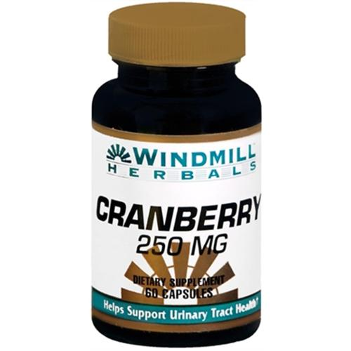 Windmill Herbals Cranberry 250 mg Capsules 60 Capsules (Pack of 2)