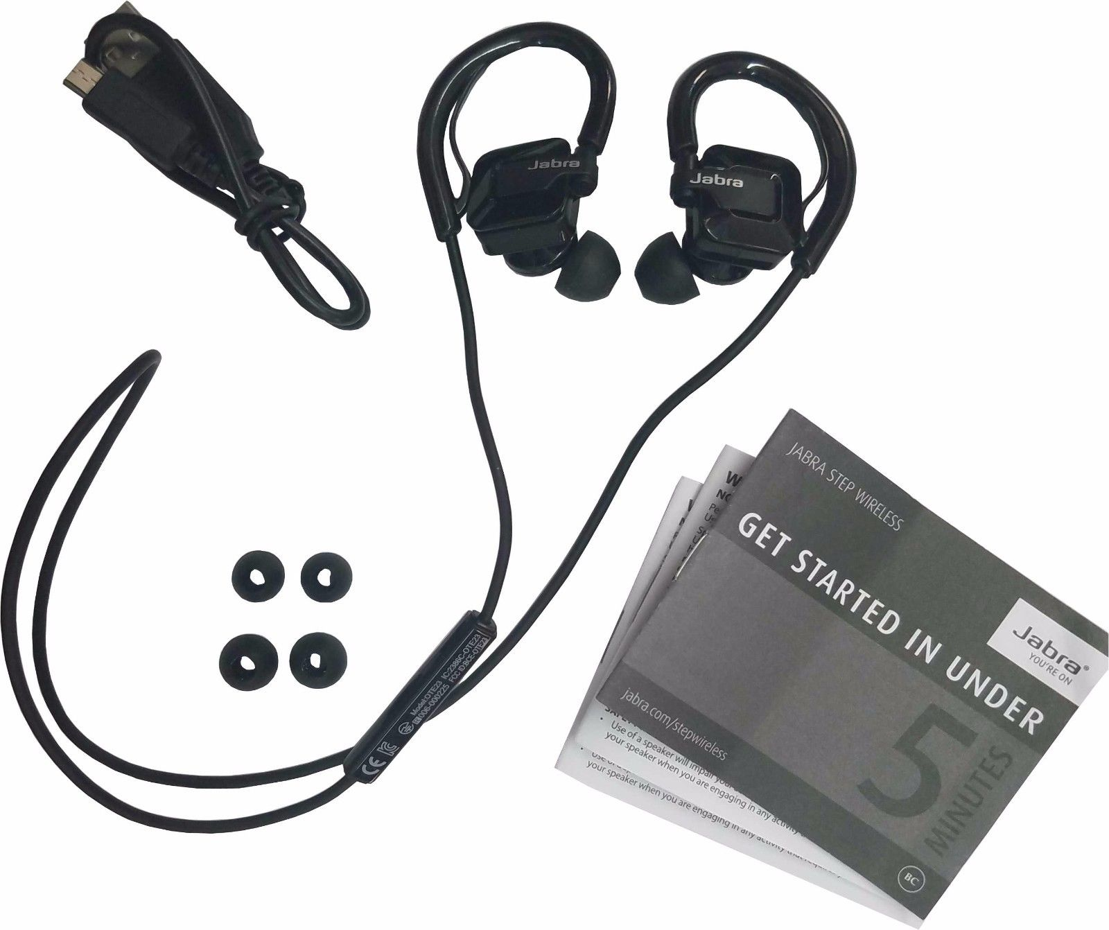 Jabra Step Black Ear Hook Headset Wireless Bluetooth Stereo Music Sport Earbuds Refurbished Walmart Com Walmart Com
