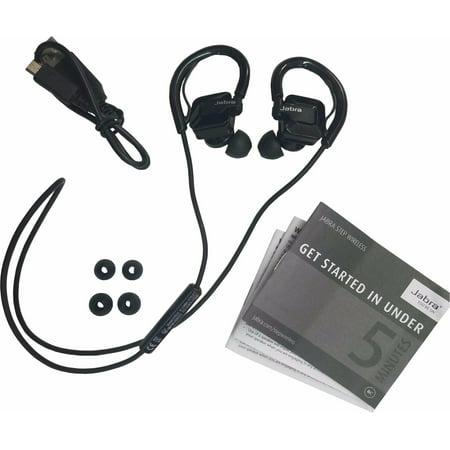 Jabra STEP Black Ear-Hook Headset Wireless Bluetooth Stereo Music Sport Earbuds -Refurbished Jabra Over The Ear Headset