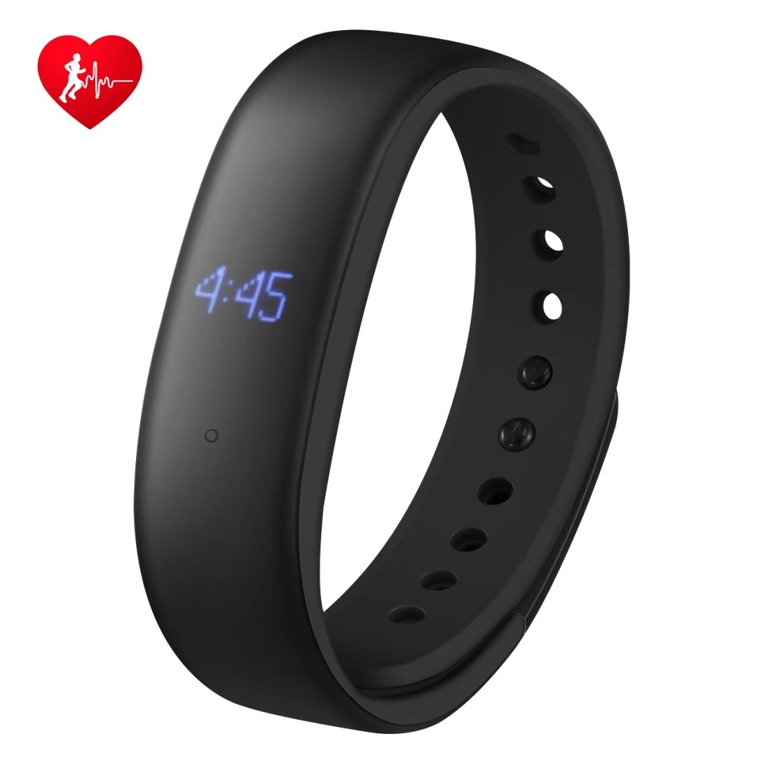 Mpow Fitness Tracker with Heart Rate Monitor, Activity Tracker, IP67 Splash-proof Smart Band with Step Counter/ Pedometer, Smart Reminder, Sleep Monitor, Smart Running Watch, Silent Alarms (Black)