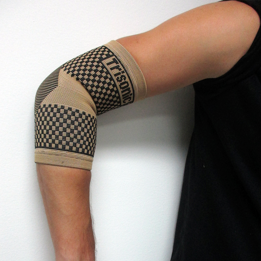 2 Elbow Brace Support Tennis Sports Compression Sleeve Pain Therapy S,M,L,XL
