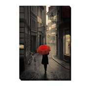 Artistic Home Gallery 'Red Rain' by Stefano Corso Photographic Print on Wrapped Canvas