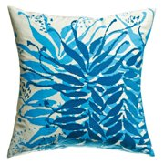 Koko Company 18 in. Water Square Pillow - Blue
