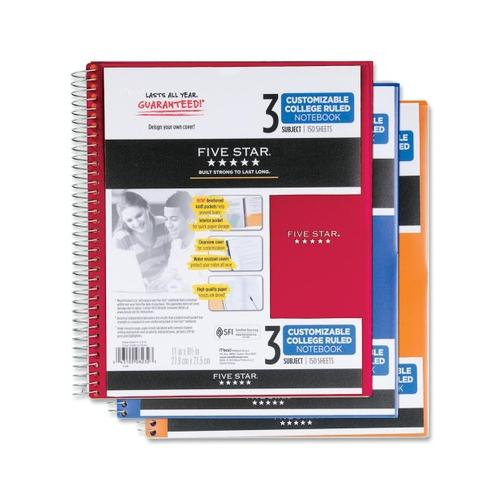 Mead Five Star Customizable College Ruled Notebook - 3 Subject MEA08232