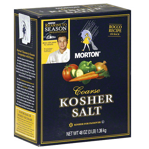 Morton Coarse Kosher Salt, 48 oz, (Pack of 12)