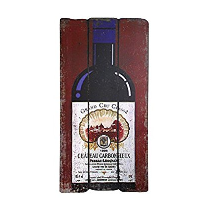 Design Toscano Bordeaux Bottle Wall Plaque, Full Color