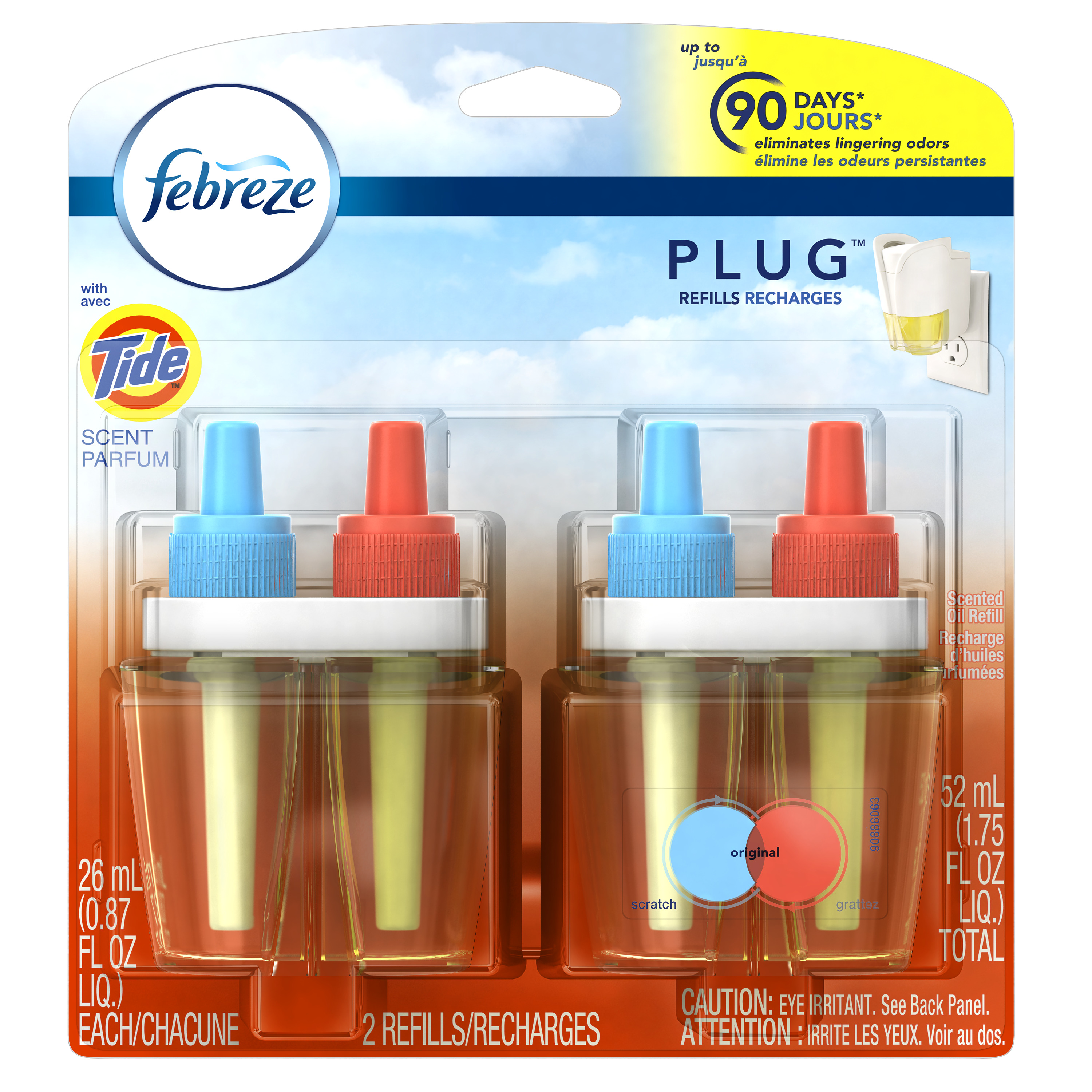 Febreze PLUG Air Freshener Refills with Tide Original (2 Count, 1.75 oz)