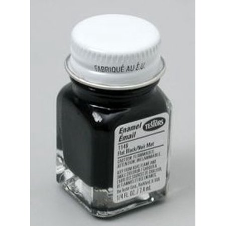 Black Flat Testors Enamel Plastic Model - Black Testors Paints