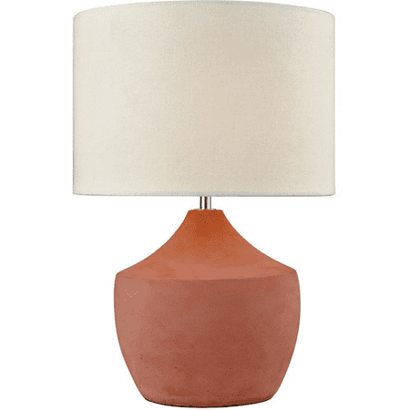 Table Lamps 1 Light With Coral Finish Concrete Linen Material E26 Bulb Type 17 inch 100 Watts