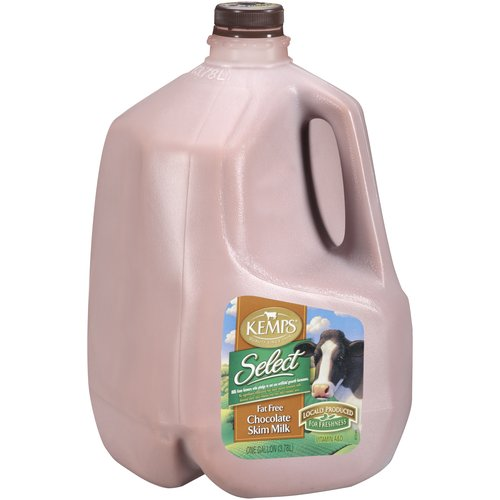Kemps Select Fat Free Chocolate Skim Milk, 1 gal