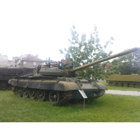 A T-55AM2 in the National Museum of Military History, Sofia. Note the red star on the front hull, a Poster Print 24 x 36