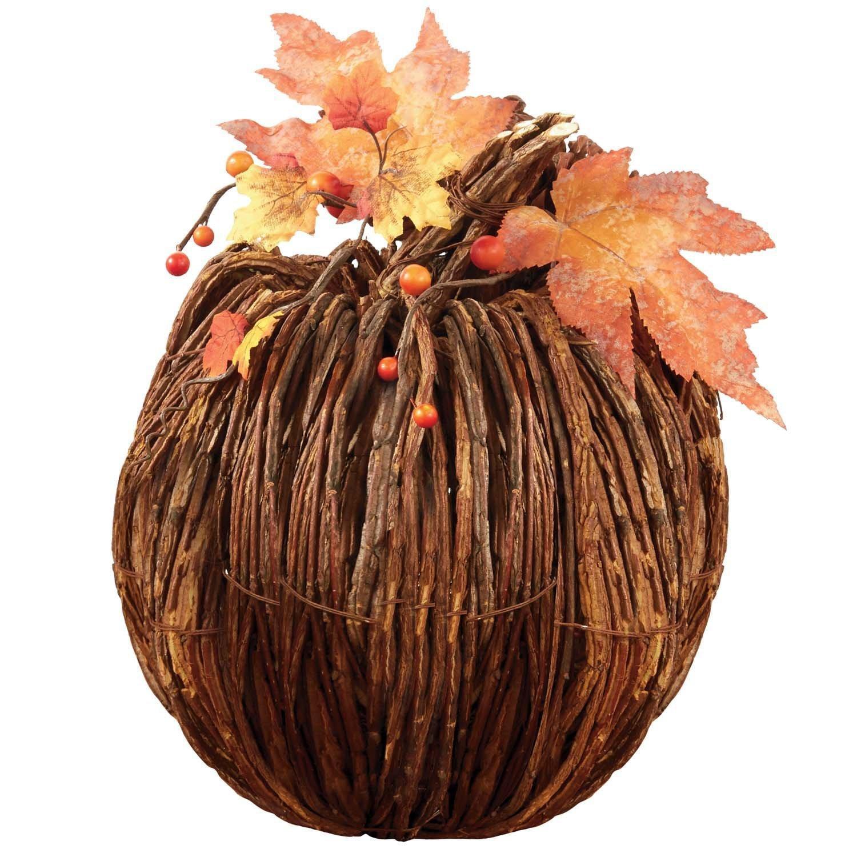 Home Decor Large Twig Pumpkin