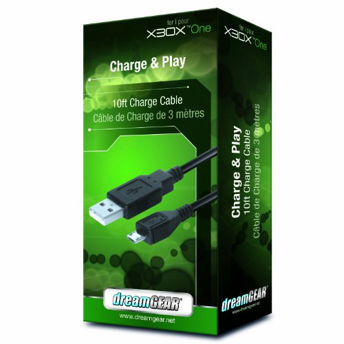 dreamGEAR Xbox One Charge and Play Cable, 10' (Xbox One)