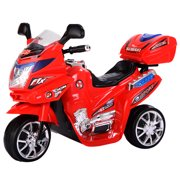 Topbuy 6V Battery Powered Motorcycle Electric Kids Ride On 3 Wheels bicycle