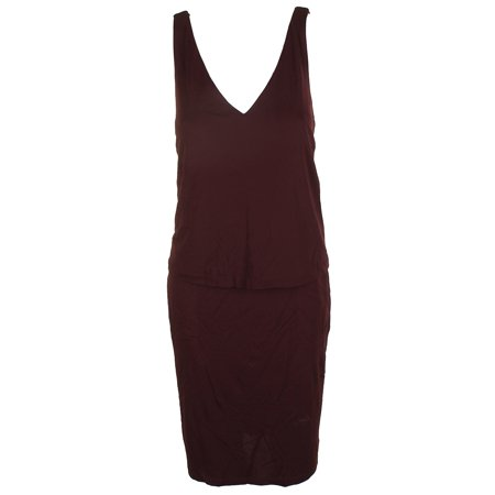 321ef25119 Lauren Ralph Lauren Burgundy Sleeveless Popover Sheath Dress L