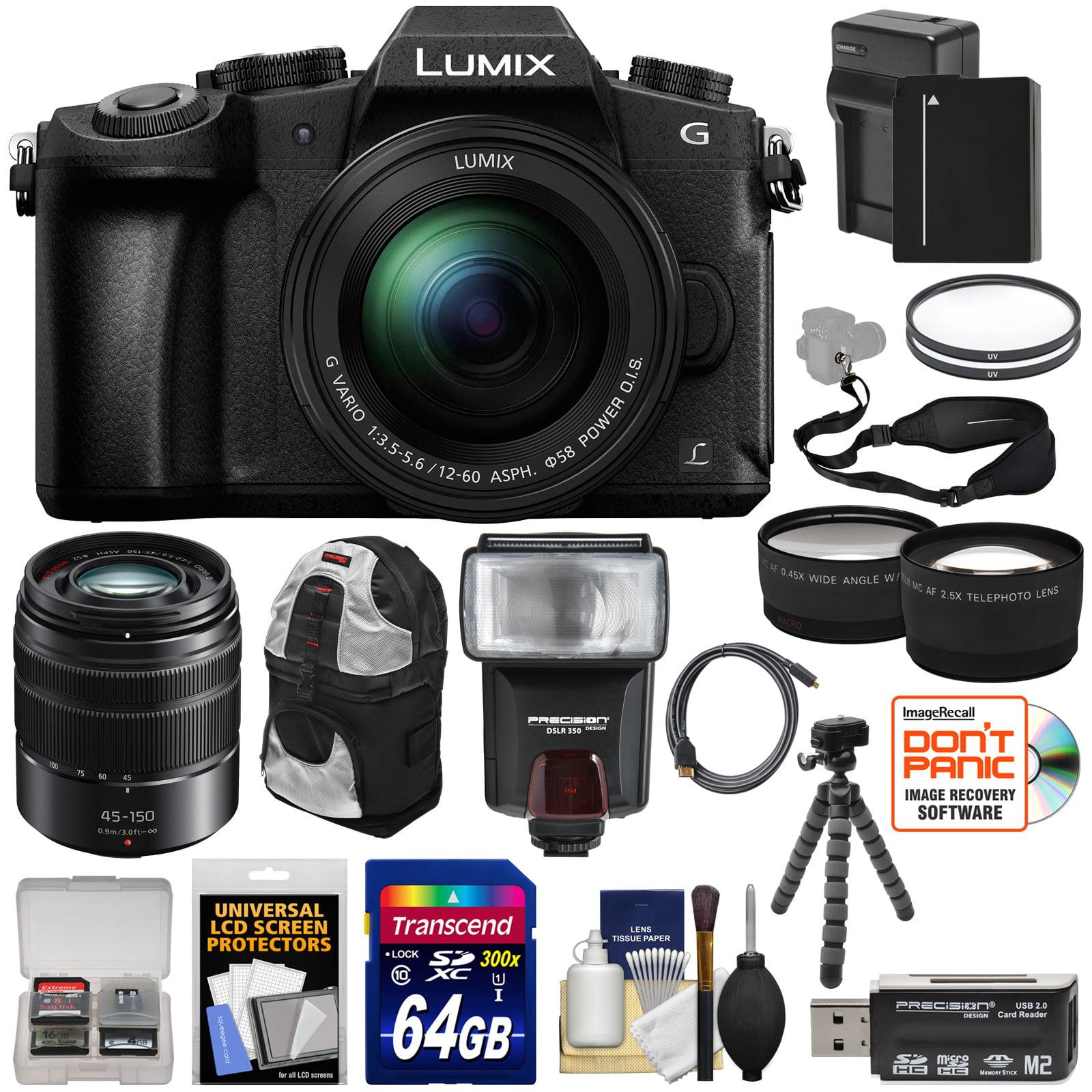Panasonic Lumix DMC-G85 4K Wi-Fi Digital Camera & 12-60mm Lens + 45-150mm Lens + 64GB Card + Battery +... by Panasonic