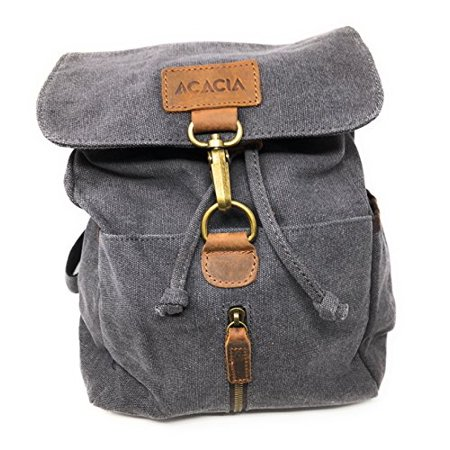 Nickanny's Conceal Carry Purse Multi Pocket Backpack Sling -Water Repellent Canvas for Women, Girls or Men-Unisex-Crossbody Convertible-Photography Rucksack Bag - Black European Style Rucksacks