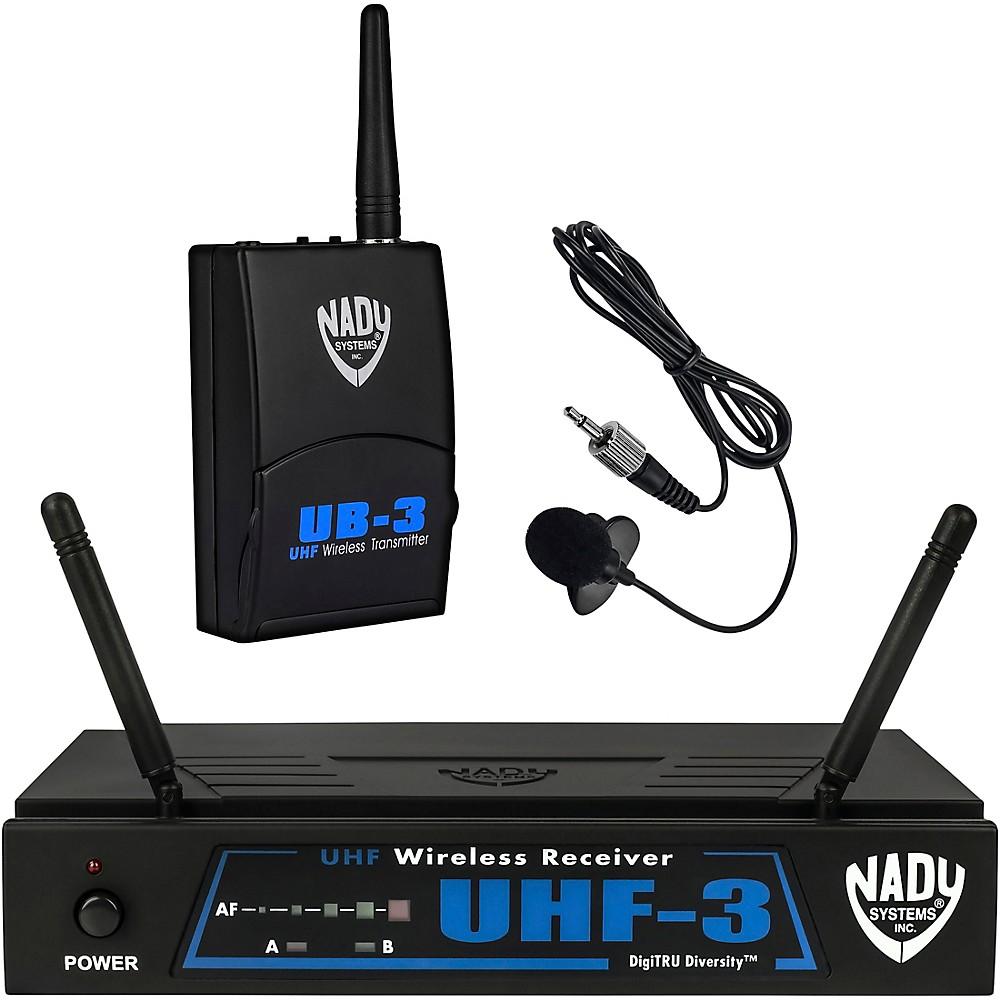 NADY UHF-3 LT SYS (MU1 470.55) Wireless Lavalier System by Nady