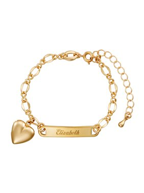 a91ca7c65 Product Image Personalized Gold-Tone Girls' Heart Charm Name Bracelet