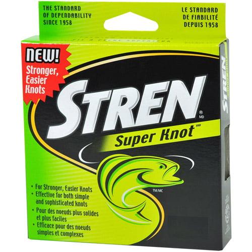 "STREN SUPER KNOT MONOFILAMENT FISHING LINE /""LO-VIS GREEN/"" 14 lb 220 yd"