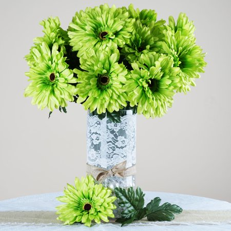 balsacircle 28 silk gerbera daisy wedding flowers diy home wedding party artificial bouquets. Black Bedroom Furniture Sets. Home Design Ideas