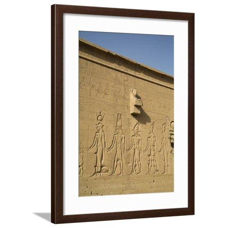Exterior Reliefs, Temple of Hathor, Dendera, Egypt, North Africa, Africa Framed Print Wall Art By Richard Maschmeyer