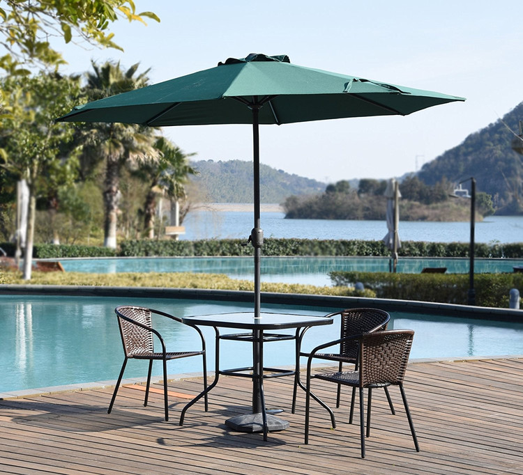 High Performance 9feet Sun Protective Rain Proof Umbrella Replacement  Canopy Market Outdoor Aluminum Table Patio Umbrella