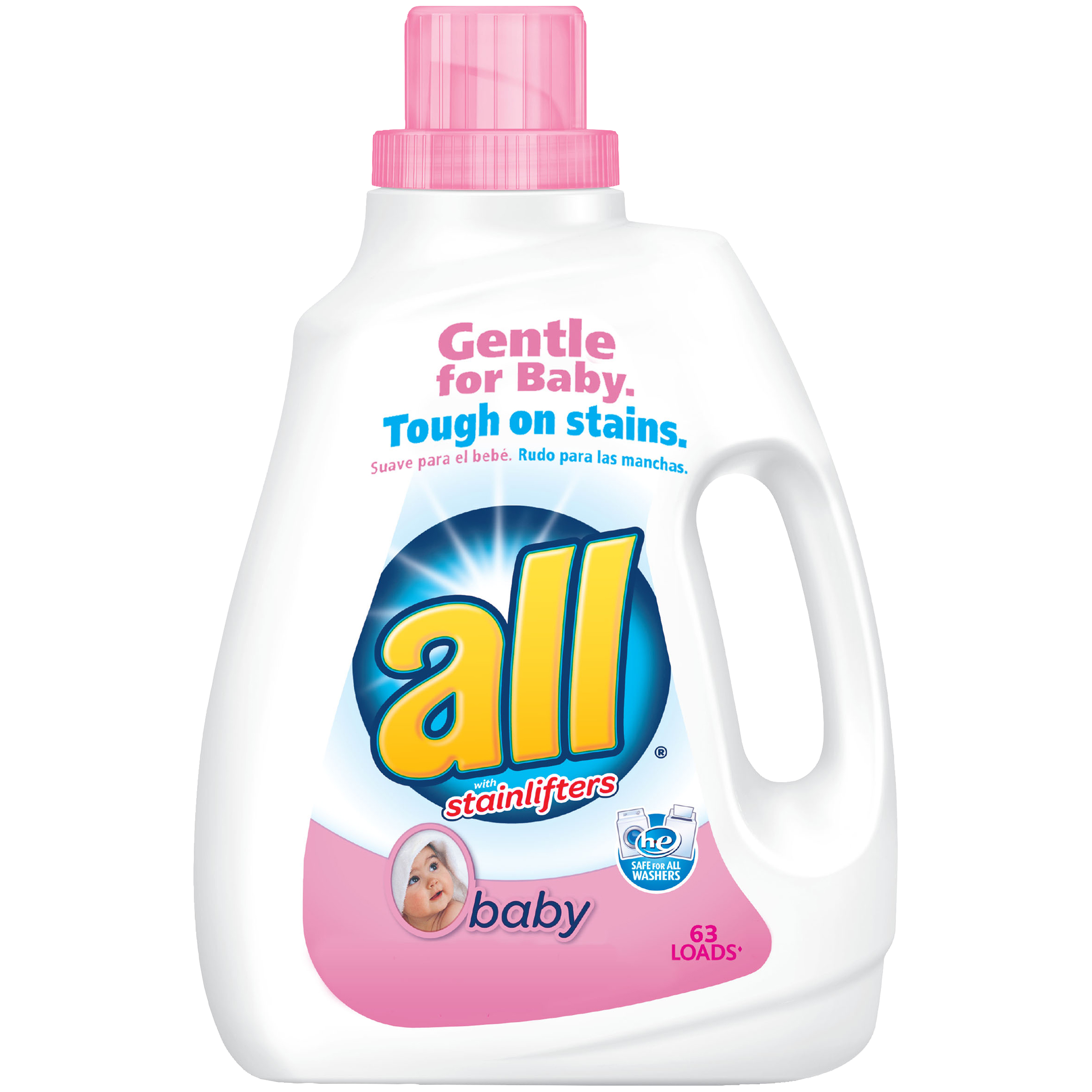 all Baby Liquid Laundry Detergent, 94.5 Ounce, 63 Loads