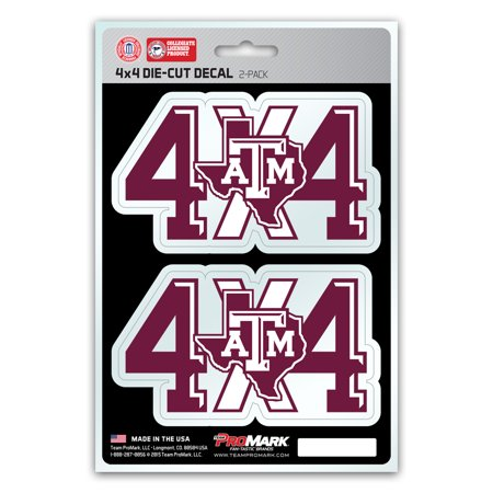 Texas A&M Aggies 4X4 Team Decal 2-Pack Set - No (Texas A&m Aggies Decal)