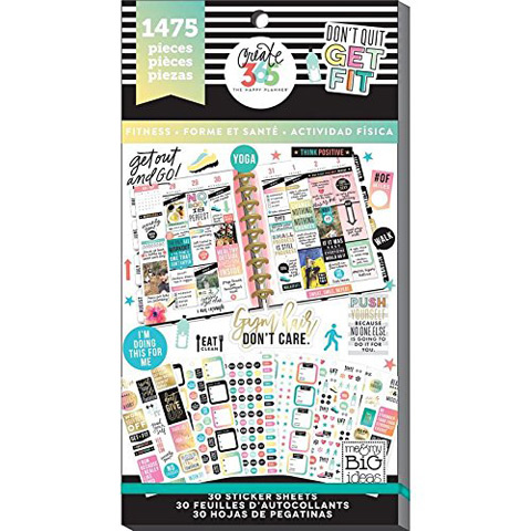 The Happy Planner Work it Out Stickers: 1475PK