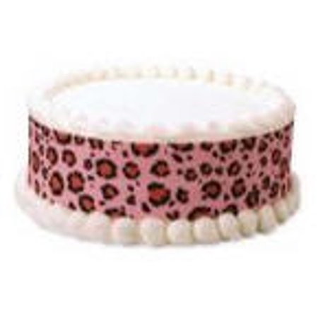 Leopard Decorations (Pink Leopard Edible Photo Image Cake Border)