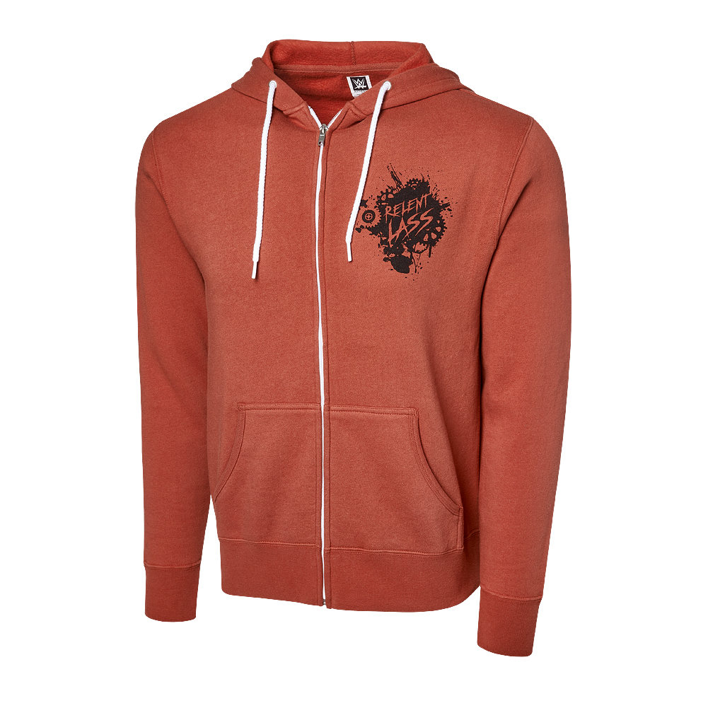 """Official WWE Authentic Becky Lynch """"Relent-Lass"""" Full Zip Hoodie Sweatshirt Multi Small"""