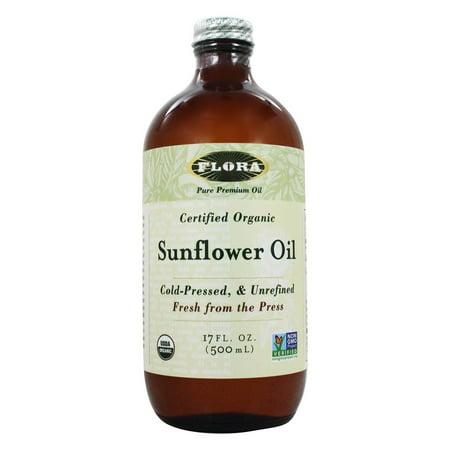 Sunflower Oil China - Flora - Sunflower Oil Certified Organic - 17 oz.