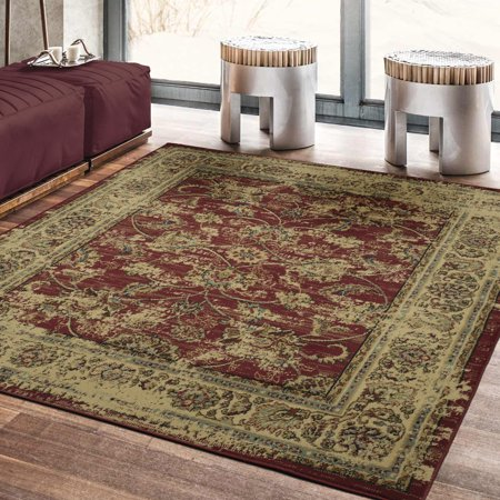 Ottomanson Royal Collection Distressed Floral Design Area Rug