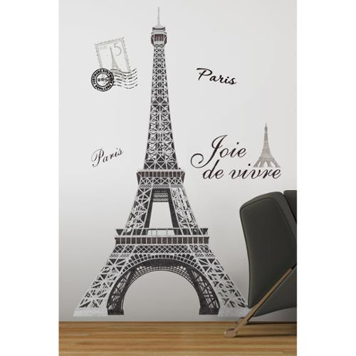 Marvelous Roommates Eiffel Tower Peel U0026 Stick Giant Wall Decal