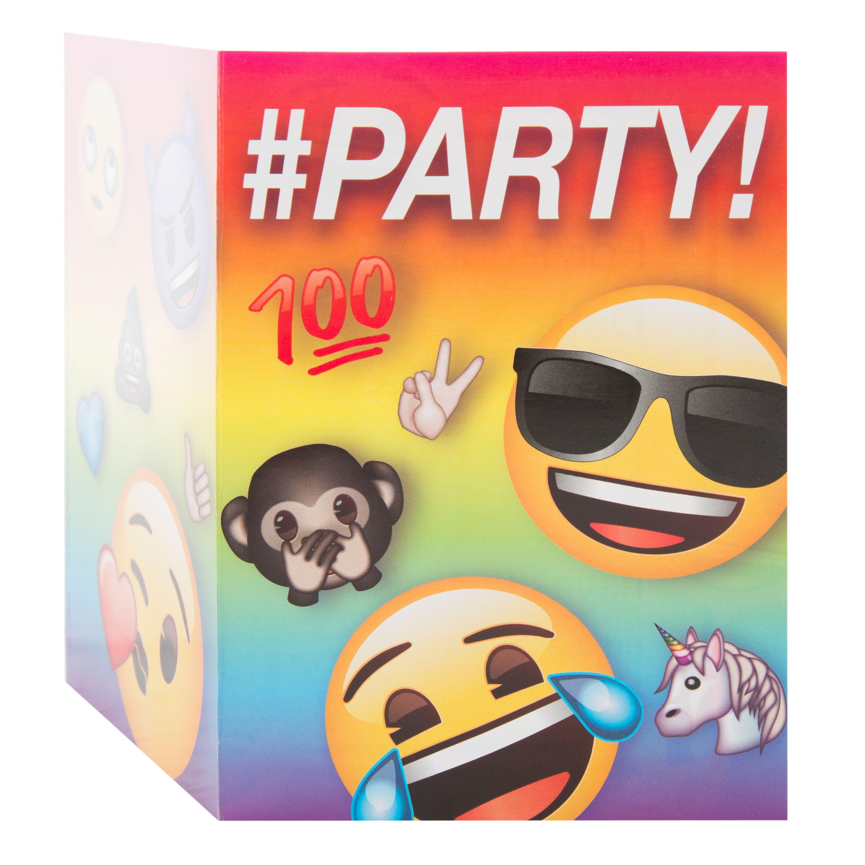 Emoji Invitations, 8ct