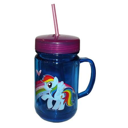 My Little Pony Rainbow Dash Blue Mason Jar Cup-24oz