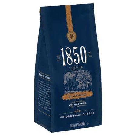 1850 Black Gold, Dark Roast Coffee, Whole Bean,