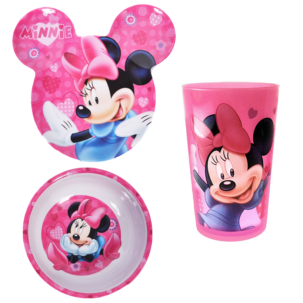 Minnie Mouse Plate Bowl and Cup 3pc Dinner Set BPA-FREE by Zak!  sc 1 st  Walmart & Minnie Mouse Plate Bowl and Cup 3pc Dinner Set BPA-FREE by Zak ...