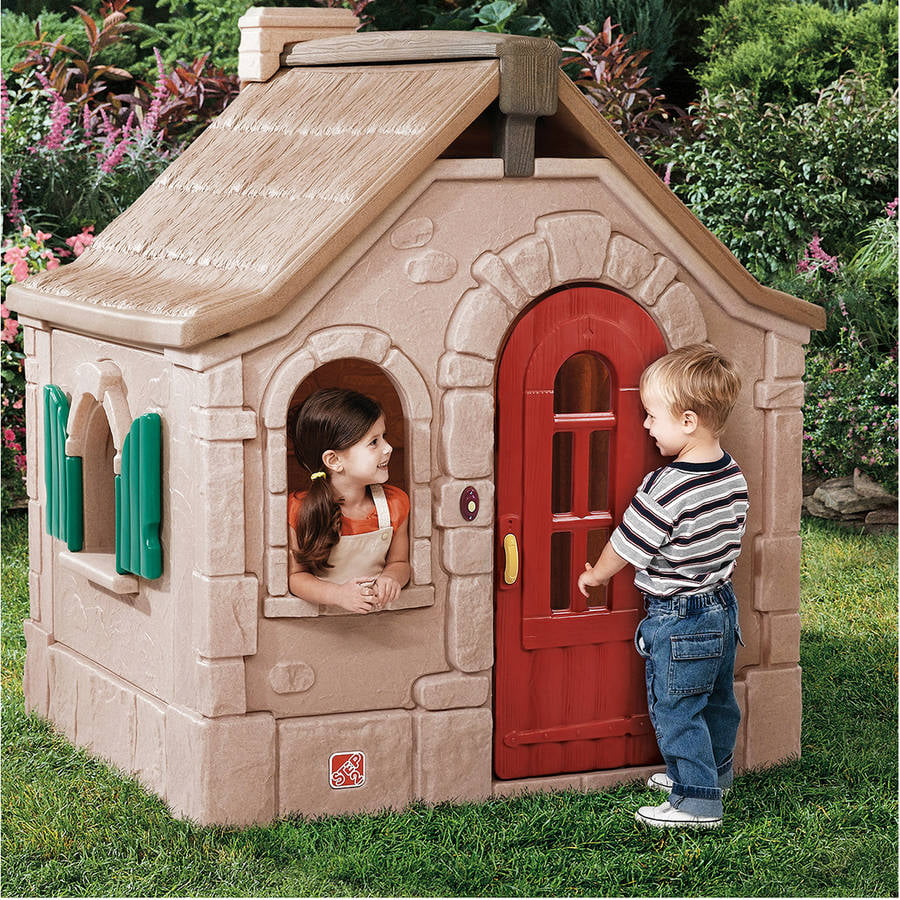 "Step2 Naturally Playful Storybook Cottage, features a decorative ""thatched"" roof and charming... by The Step2 Company"