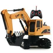 Domybest Electric Remote Control Crawler Excavator Funny Toy for Boy (1028 Plastic)