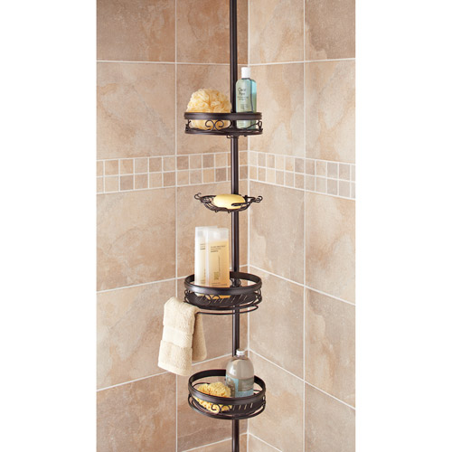 better homes gardens bronze tension shower caddy walmart com rh walmart com Tension Pole Caddy Over 10' Tension Pole Shower Caddy