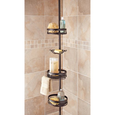 Better Homes gardens Bronze Tension Shower Caddy. Better Homes gardens Bronze Tension Shower Caddy   Walmart com