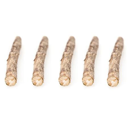 5 Pcs Natural Cat Catnip Sticks Matatabi Snacks Molar Chew Toy Dental Cleaning Teeth Wood Stick for Pet Cat Kitten