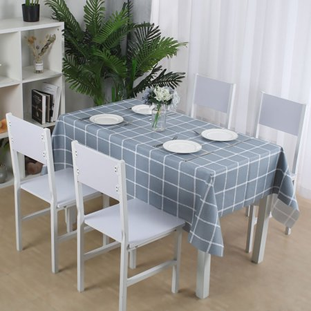 "Tablecloth PVC Oil Stain Resistant Plaid Pattern for Rectangle Table 54""x79"",#1 - image 7 de 7"