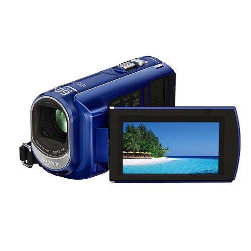 """Sony Handycam DCR-SX40 Blue Flash Memory Camcorder with 4GB Memory, 60x Optical Zoom, 2.7"""" Wide LCD"""