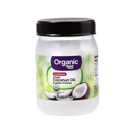 Great Value Organic Unrefined Virgin Coconut Oil, 14 oz